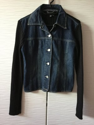 Jeansjacke mit Strick
