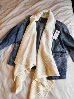 Jeansjacke mit Strick-Schalkragen