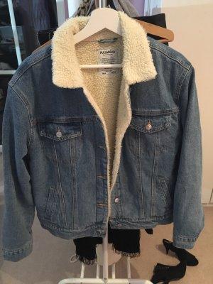 Jeansjacke mit Teddyfutter M