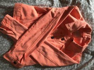 Jeansjacke neon orange