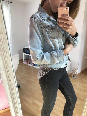 Jeansjacke Nieten hellblau S