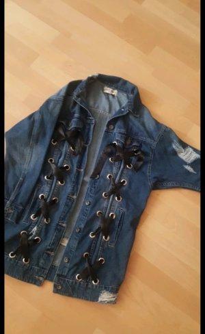 Monday Premium Oversized Jacket black-blue