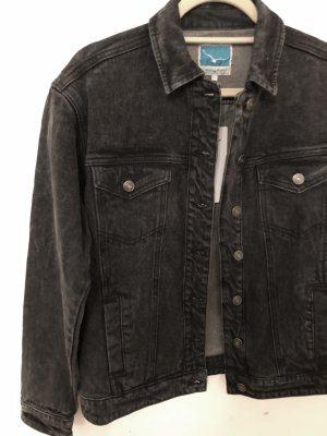 Jeansjacke schwarz Waschung neu