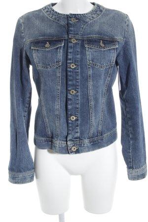 Jeansjacke stahlblau Jeans-Optik