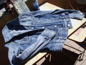 TRF Denim Denim Jacket multicolored cotton