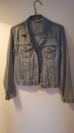Jeansjacke used optik