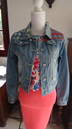 Denim Jacket multicolored cotton