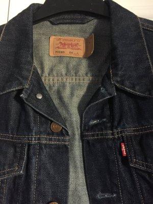 Levi's Veste en jean bleu foncé coton