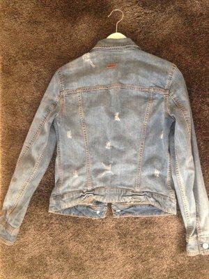 Mango Veste en jean bleu acier