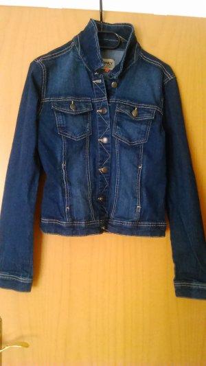 Jeansjacke von Only in dunkel Blau
