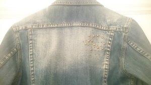Jeansjacke von Philip Russel mit raffinierten Applikationen Größe 34/36