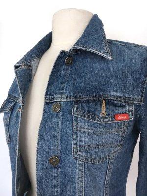 s.Oliver Veste en jean bleu acier