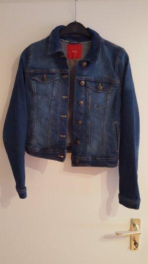 jeansjacke von s.oliver blau