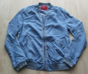 s.Oliver Blouson light blue lyocell