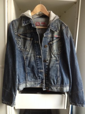 Jeansjacke von Soccx mit abnehmbarer Kapuze