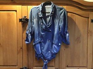 Stradivarius Veste en jean bleu azur