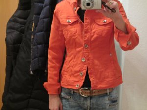 Jeansjacke von STREET ONE in knalligem Orange - Größe S