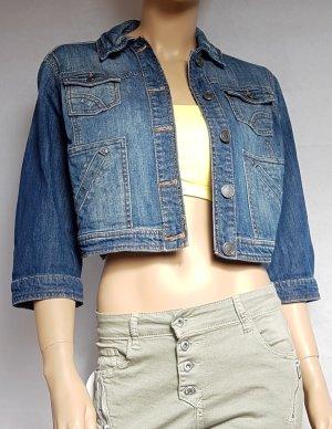 Tom Tailor Veste en jean bleu foncé
