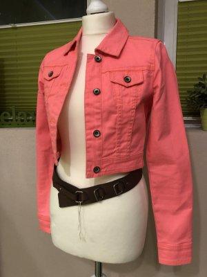 Tom Tailor Veste en jean rose fluo-rose tissu mixte