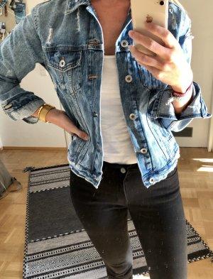 Zara Trafaluc Denim Jacket multicolored