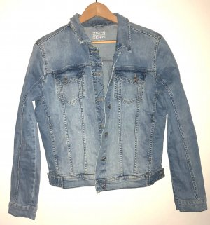 Zara Denim Jacket multicolored cotton