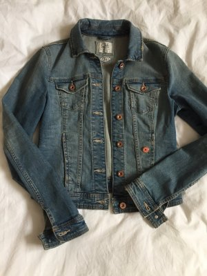 Jeansjacke Washed denim mit Donut Pin