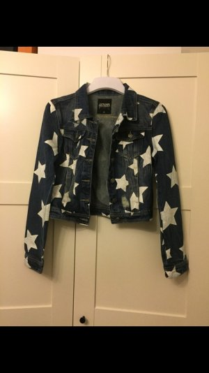 Jeansjacke weiße Sterne