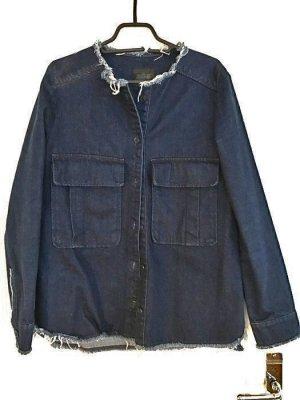 Zara Veste en jean bleu acier