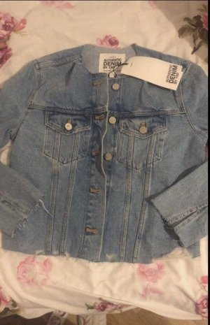 Jeansjacke zerrissen optik