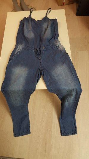 Jeans met bovenstuk blauw