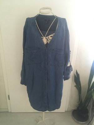 H&M Jeansjurk donkerblauw