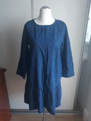 Denim Dress steel blue-cornflower blue