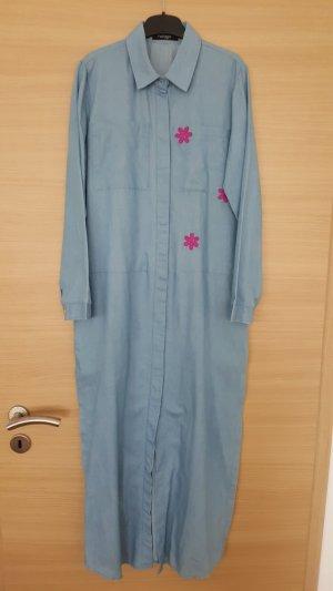 Vestido camisero azul celeste