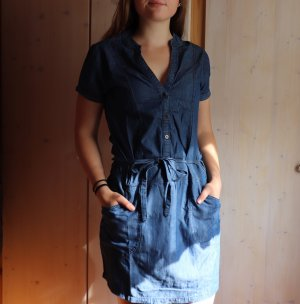 Blue Motion Shirtwaist dress steel blue-dark blue cotton