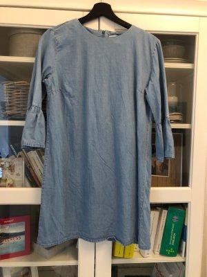 Zara Denim Dress azure-cornflower blue
