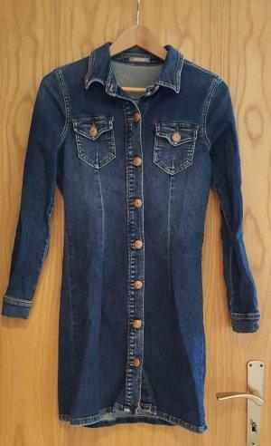 Orsay Denim Dress dark blue cotton