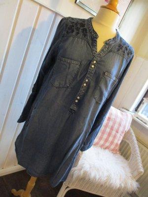 Gina Shirtwaist dress blue lyocell
