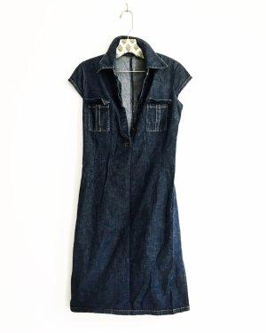jeanskleid / denim dress / vintage / blue jeans / edgy