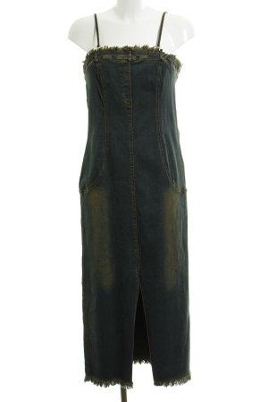 Jeanskleid dunkelblau-beige Jeans-Optik