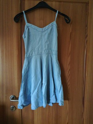 Pull & Bear Denim Dress azure