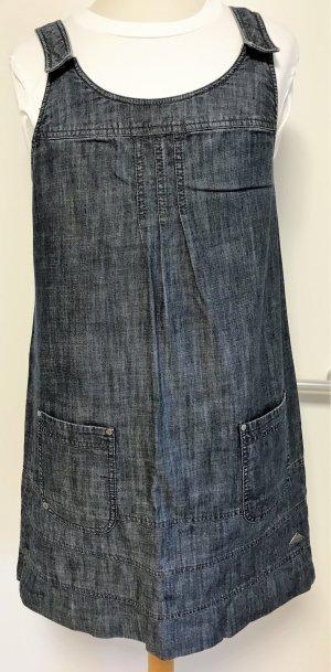 Jeanskleid, geknöpfte Schulterträger