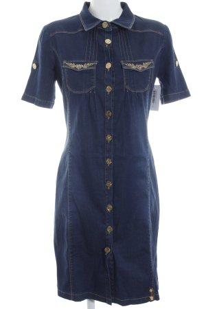 Jeansjurk goud-donkerblauw extravagante stijl