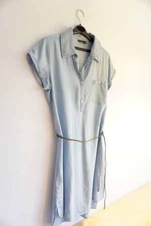 Robe en jean bleu azur lyocell