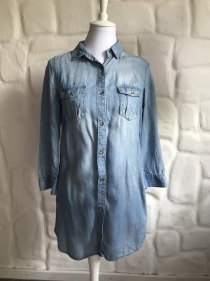 H&M Denim Dress silver-colored-blue