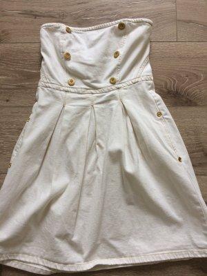 Jeanskleid in weiß mit Träger