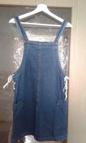 Clockhouse Jeansjurk wit-donkerblauw