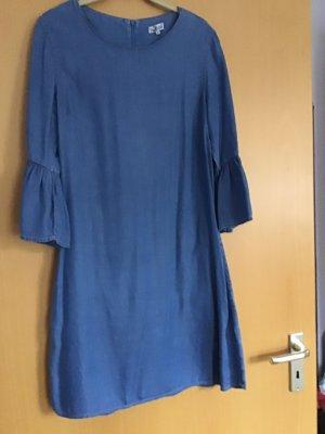 Vestido vaquero azul celeste tejido mezclado