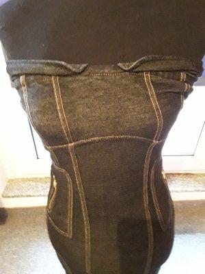 Jeanskleid - Mini - grau - Bandeau - Redial - Reißverschluss - Gr. M