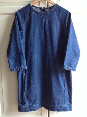 Topshop Denim Dress blue cotton