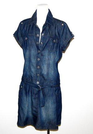 Jeanskleid mit Gürtel von Street One - Gr. 38